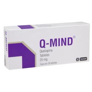 Comprar Q-Mind 25 Mg Caja 28 Tabletas
