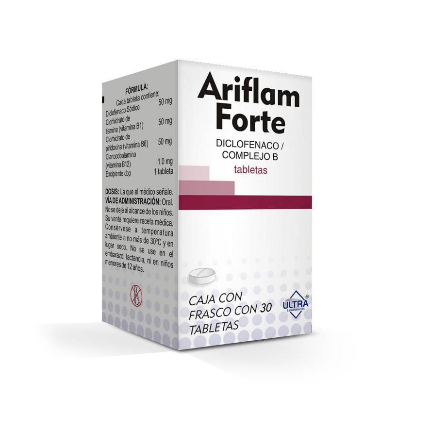 Ariflam Forte 50 Mg Caja 30 Tabletas
