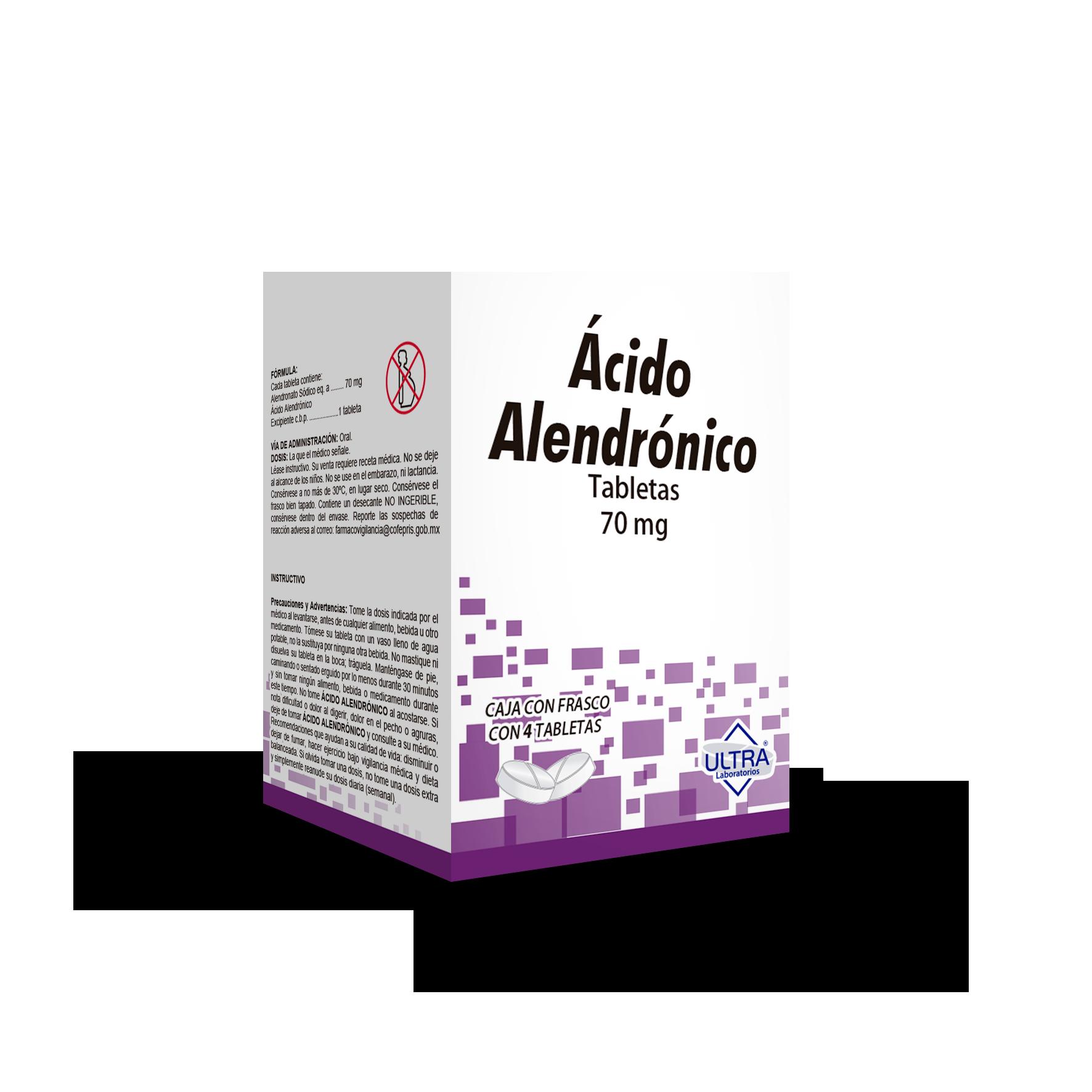Ácido Alendronico 70 Mg Caja 4 Tabletas