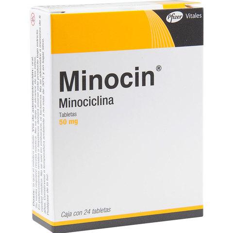 MINOCIN GRAGEAS 50 MG. C/24