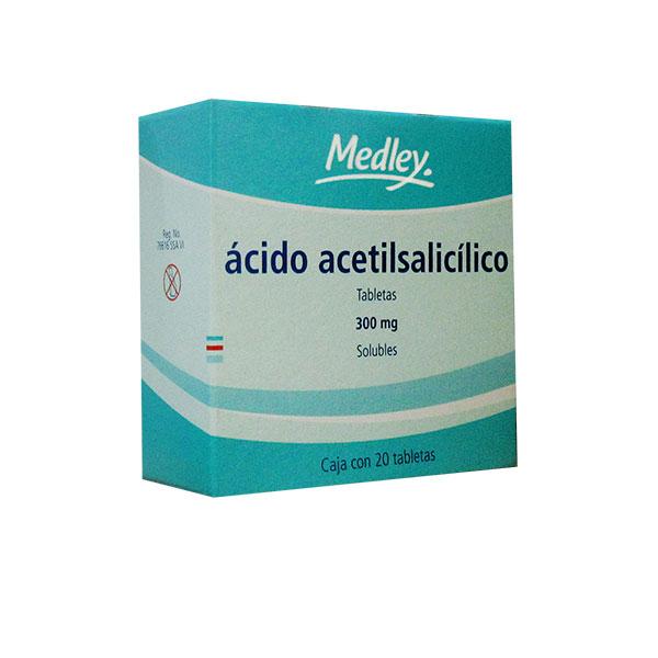 Ácido Acetilsalicílico 20 Tabletas