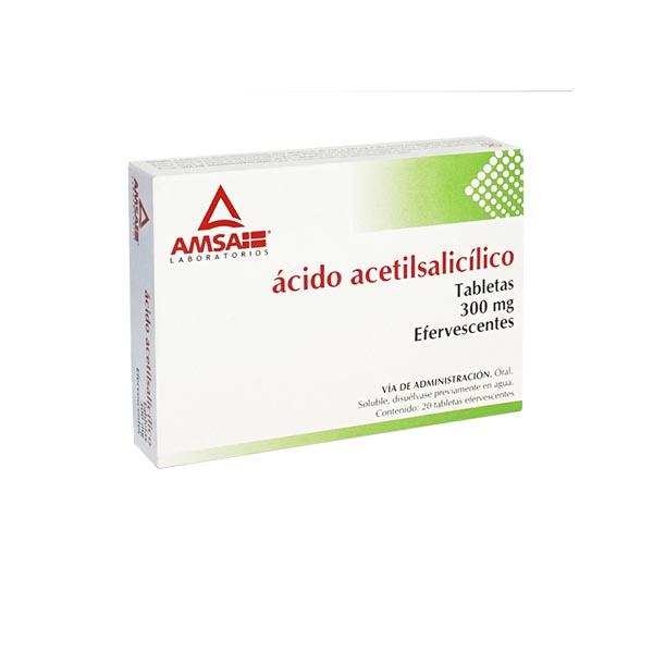 Ácido Acetilsalicílico 20 Tabletas Efervescentes