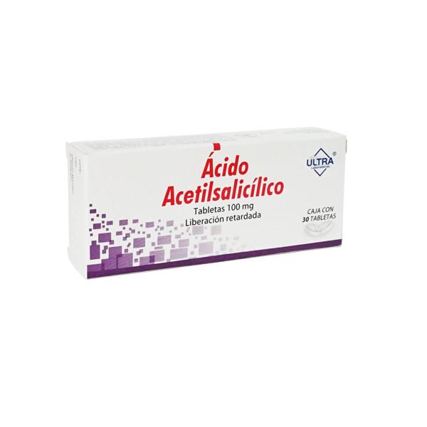 Ácido Acetilsalicílico 30 Tabletas