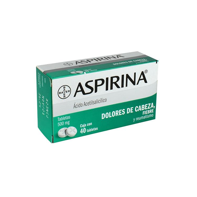 ASPIRINA 500MG TAB C40