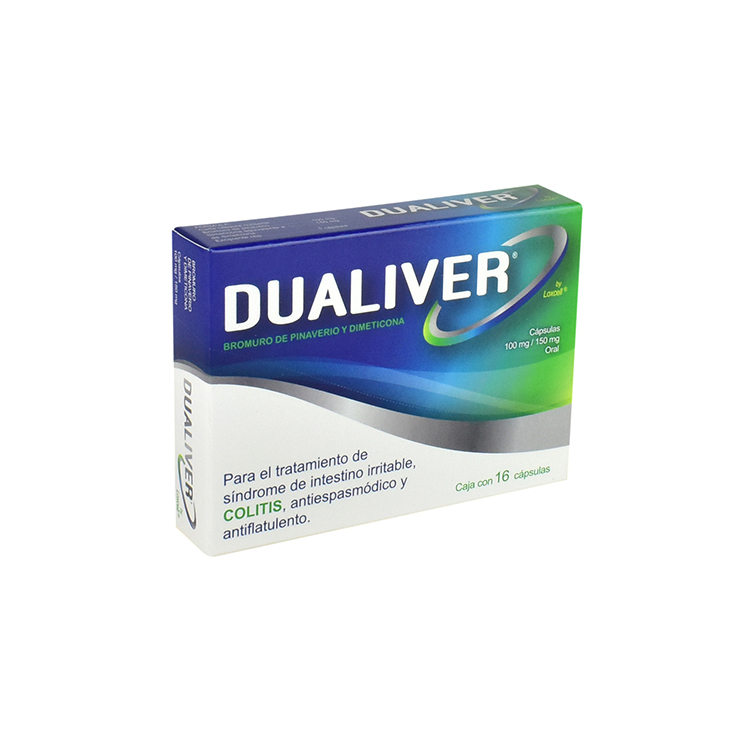 DUALIVER 100/150MG CAPS C16