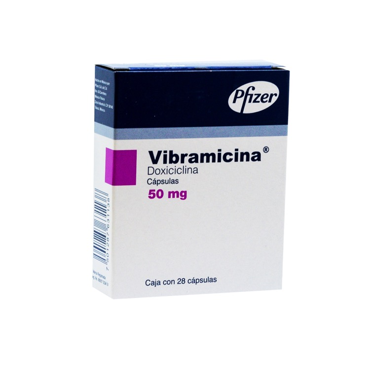 VIBRAMICINA 50MG CAP C28 (copia)