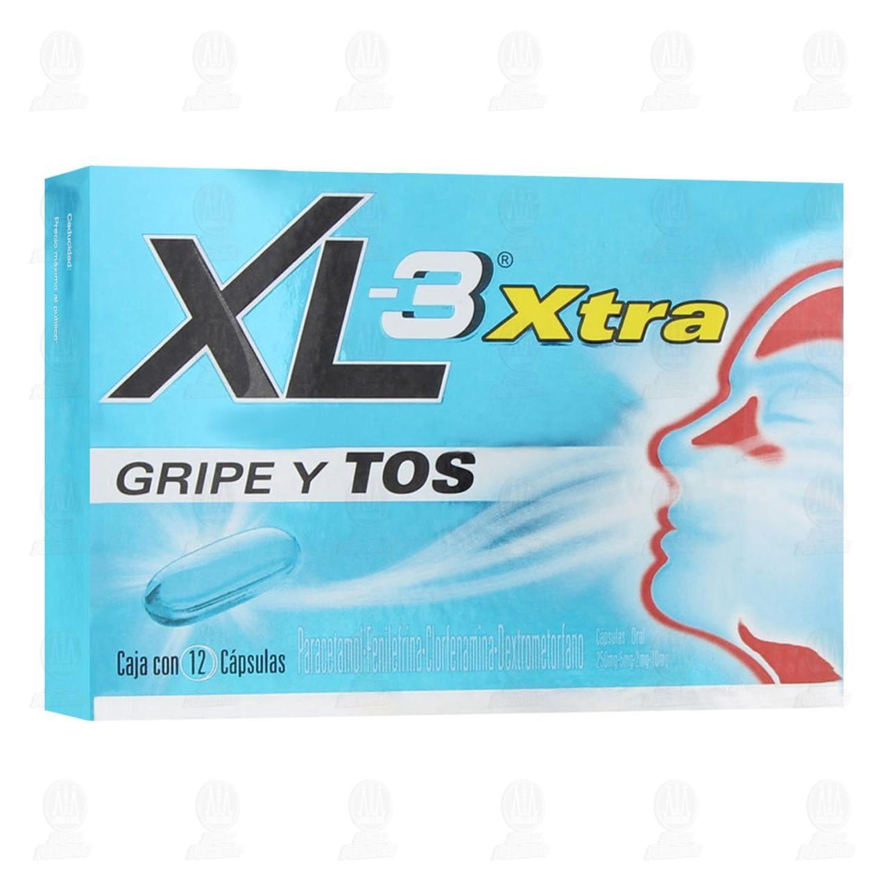 Xl-3 Xtra Gripe y Tos 12 Cápsulas