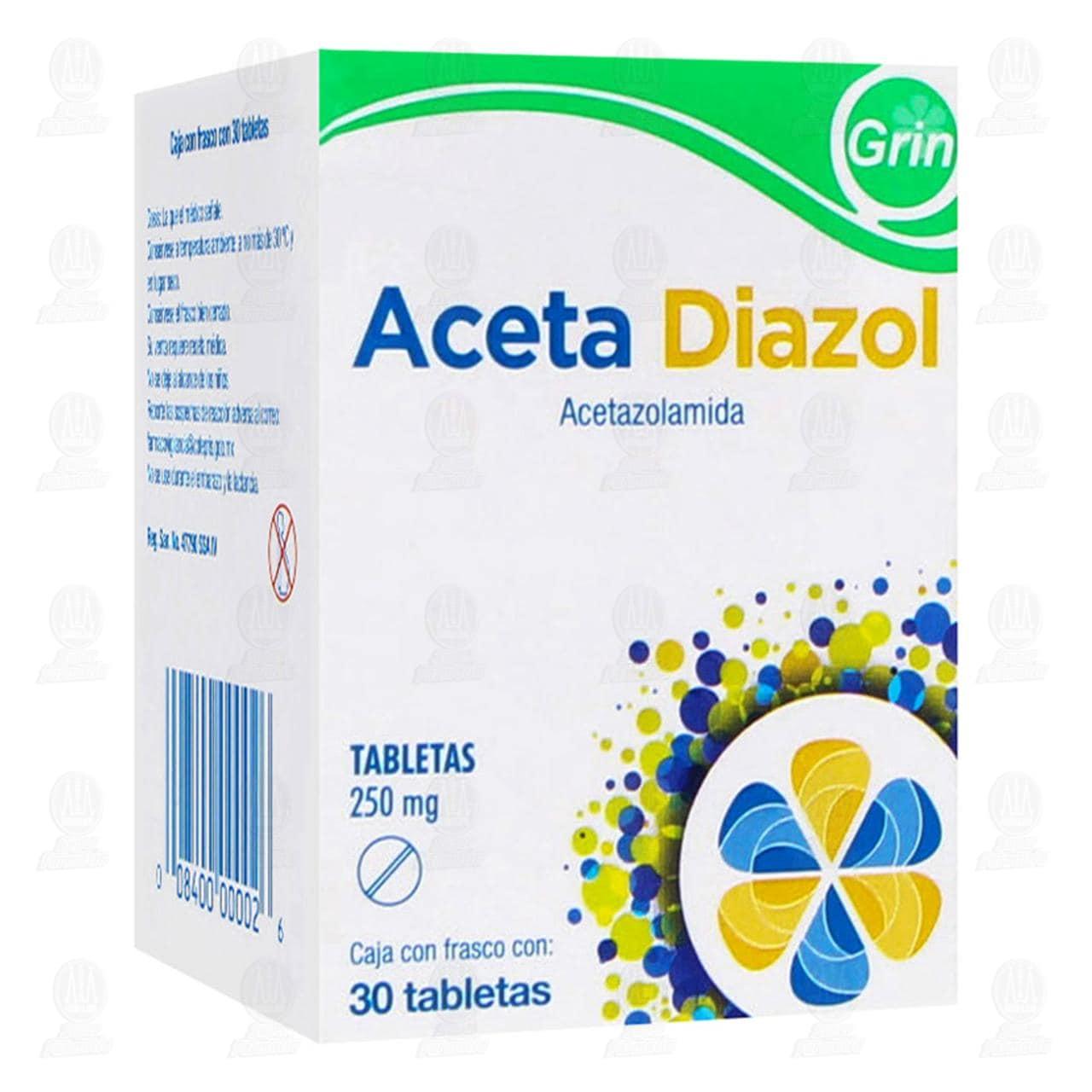 Aceta Diazol 250mg 30 Tabletas