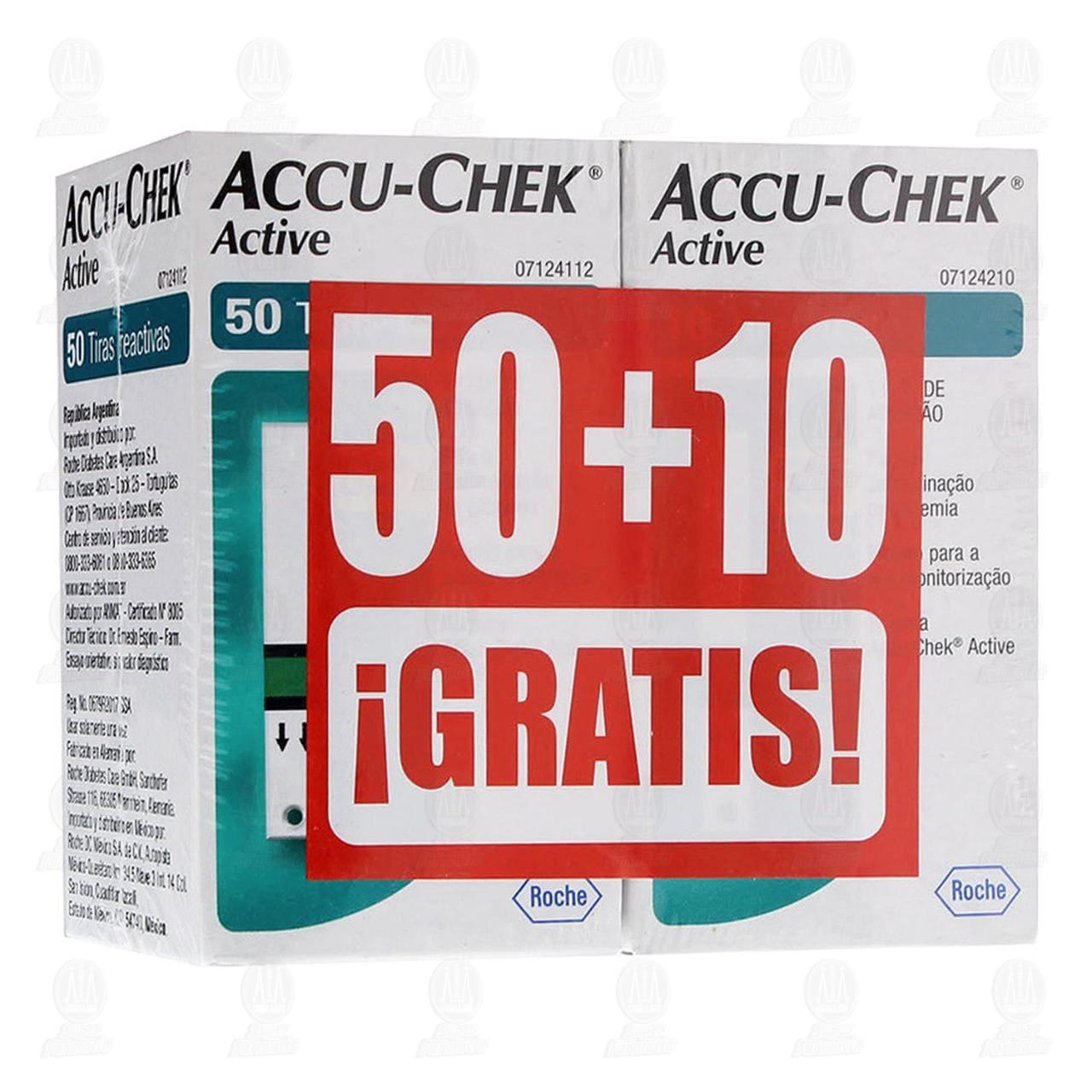 Accu-chek Active Glucose 50 +10 Tiras Gratis