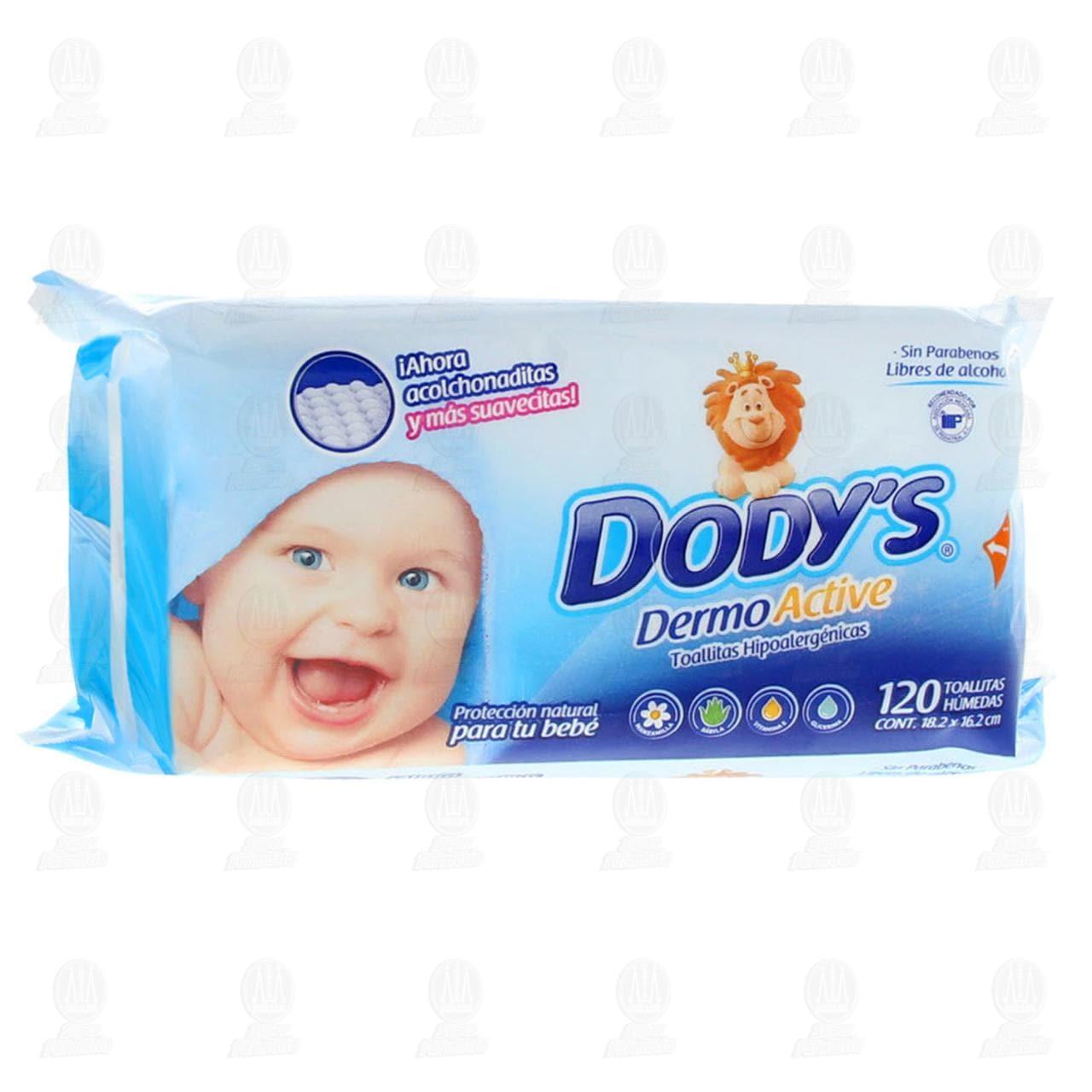 Toallitas para Bebé Dody's Dermo Active Hipoalergénicas, 120 pzas.