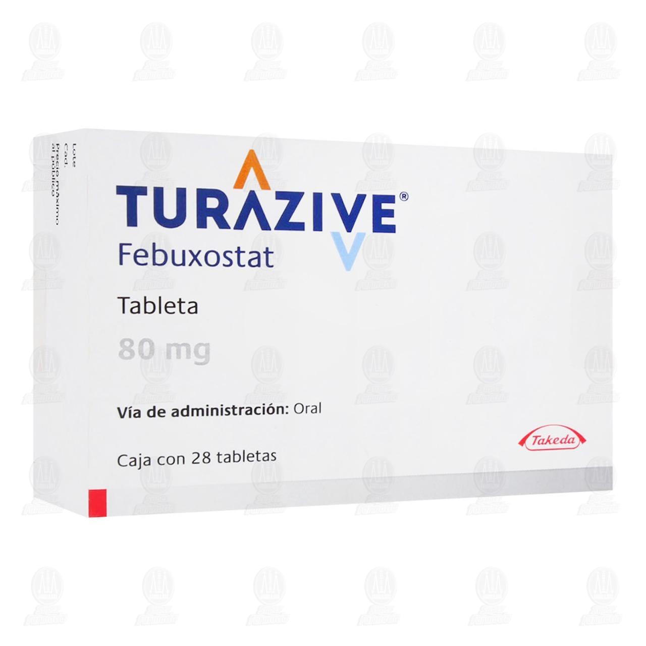Turazive 80mg 28 Tabletas