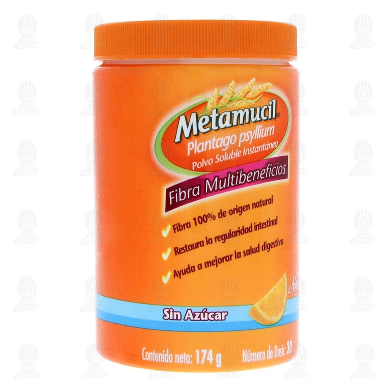 Fibra Natural Metamucil Sabor Naranja 174gr 30 Dosis