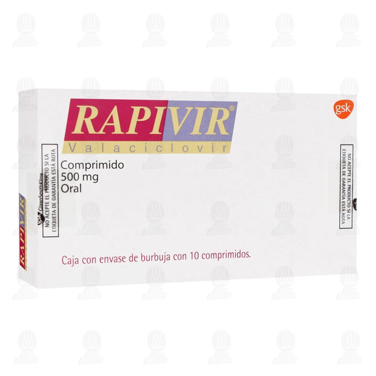 Rapivir 500mg 10 Comprimidos