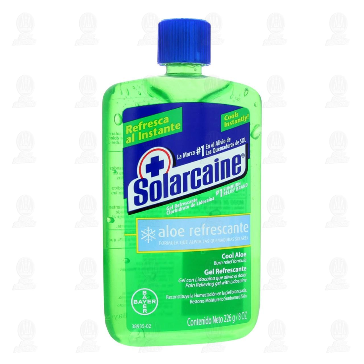 Gel Solarcaine Contra Quemaduras con Lidocaína, 226 gr.