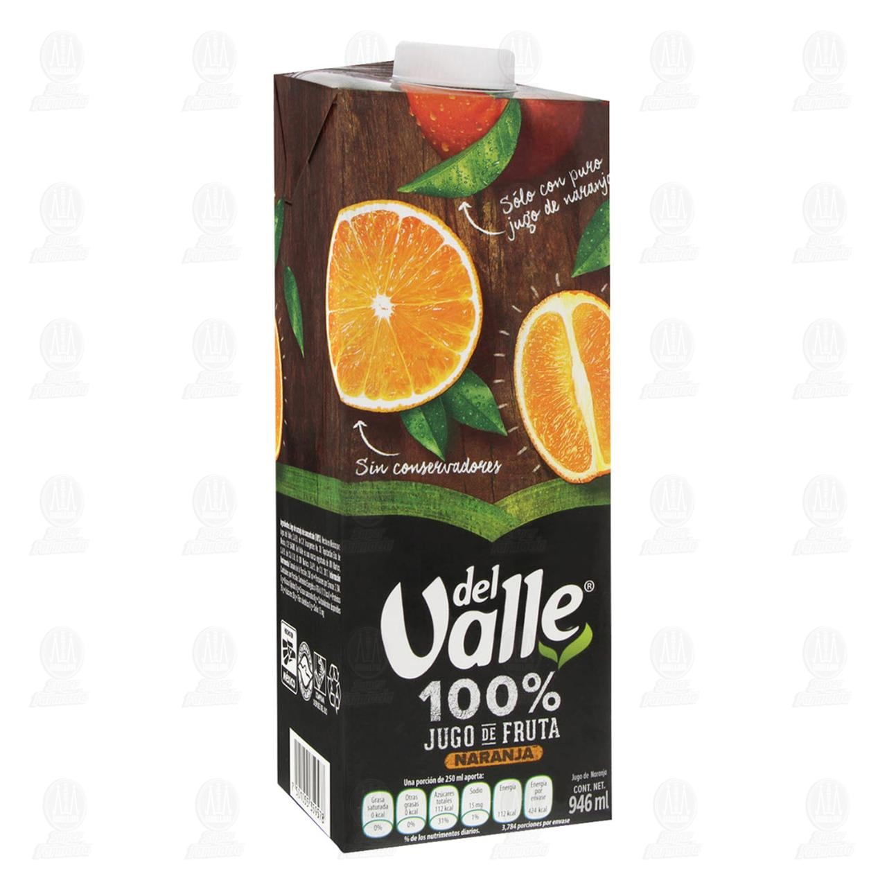 Jugo del Valle 100% Jugo Naranja, 946 ml.