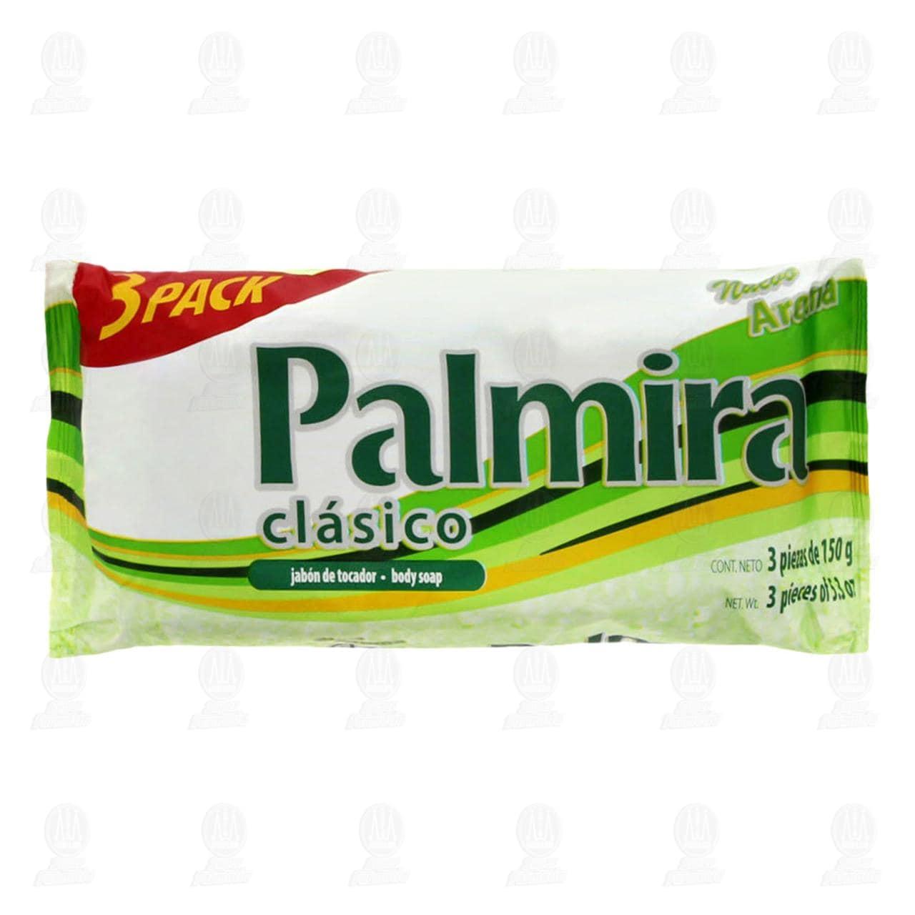 Pack de Jabón Palmira Clásico de Tocador, 3 pzas de 150 gr c/u.
