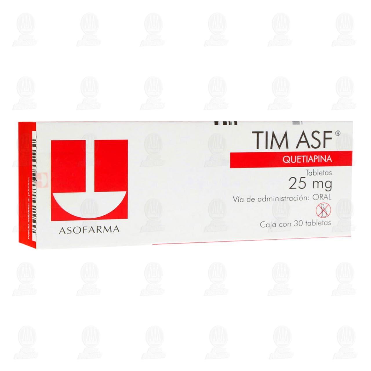 Tim ASF 25mg 30 Tabletas