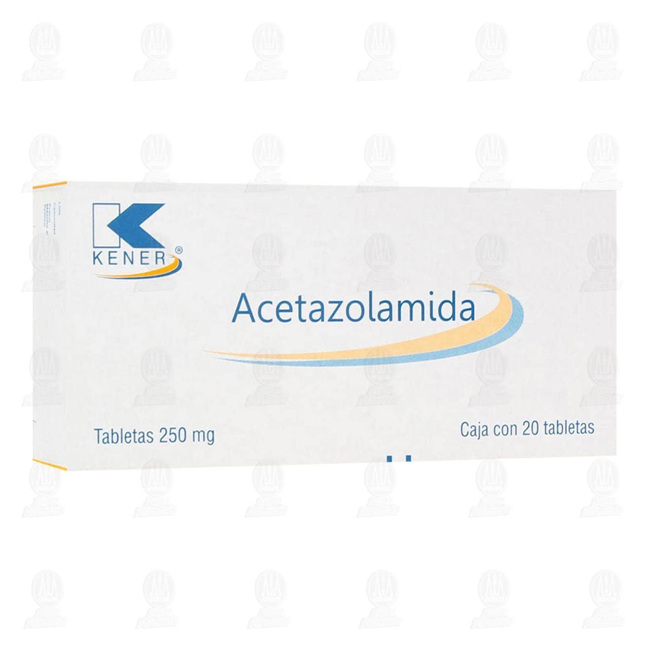 Acetazolamida 250 mg 20 Tabletas Kener.