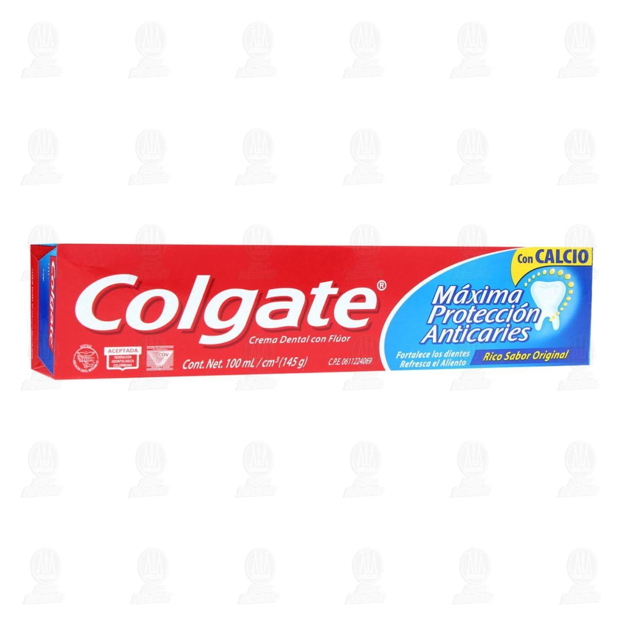 Pasta dental Colgate Máxima Protección Anticaries ,100 ml.