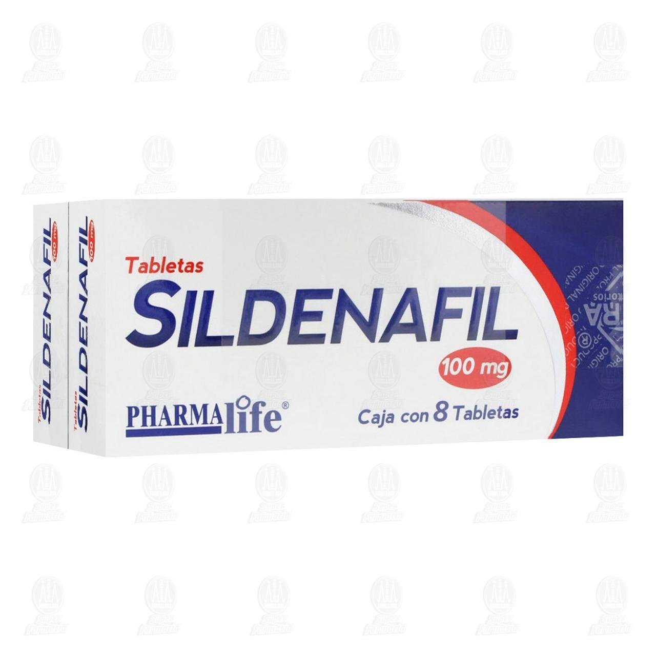 Sildenafil 100mg 16 Tabletas Pharmalife 2 Cajas de 8 Tabletas c/u