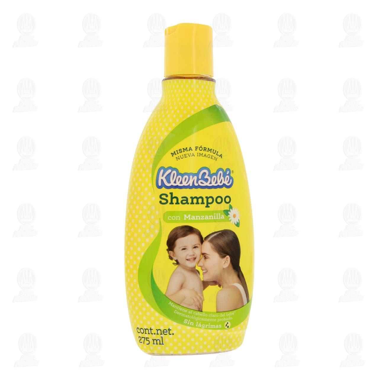 Shampoo para Bebé Kleen Bebé con Manzanilla y Aloe 275 ml.