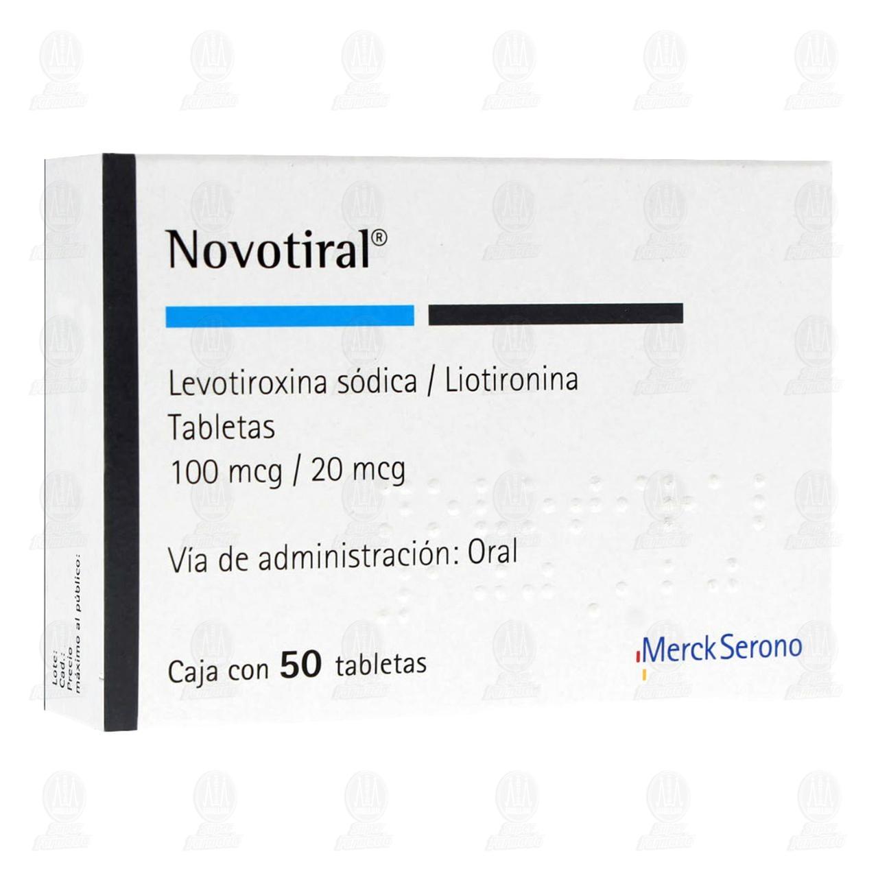 Novotiral 50 Tabletas