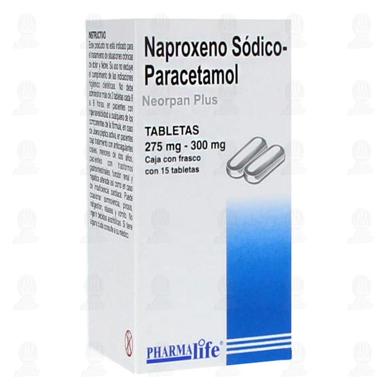 Naproxeno Paracetamol Pharmalife 15 Tabletas