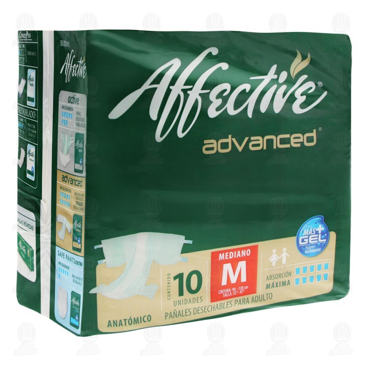 Pañal Affective Advanced Talla Mediana, 10 pzas.