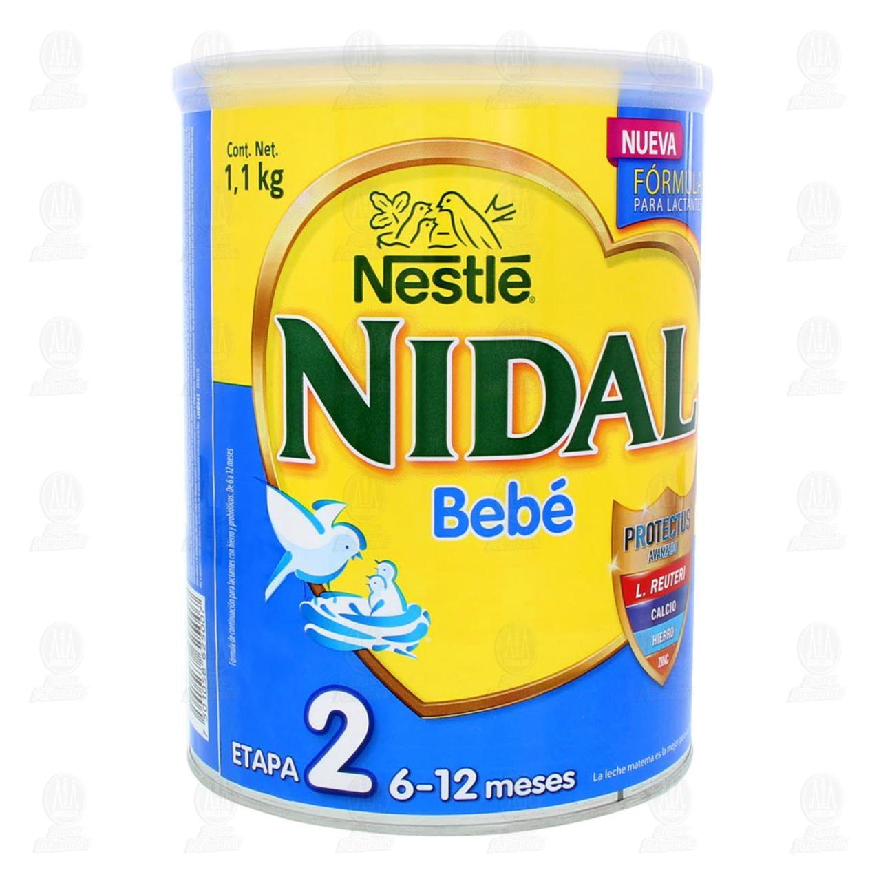 Fórmula Infantil Nestlé Nidal Bebé 2 en Polvo (Edad 6-12 Meses)1.1 kg.