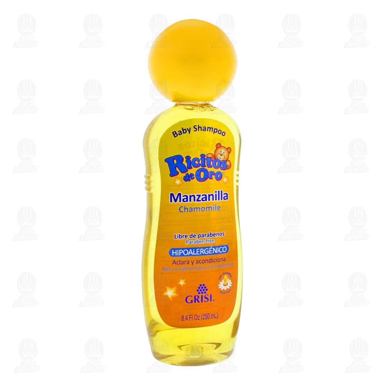 Shampoo para Bebé Grisi Ricitos de Oro con Manzanilla, 250 ml.