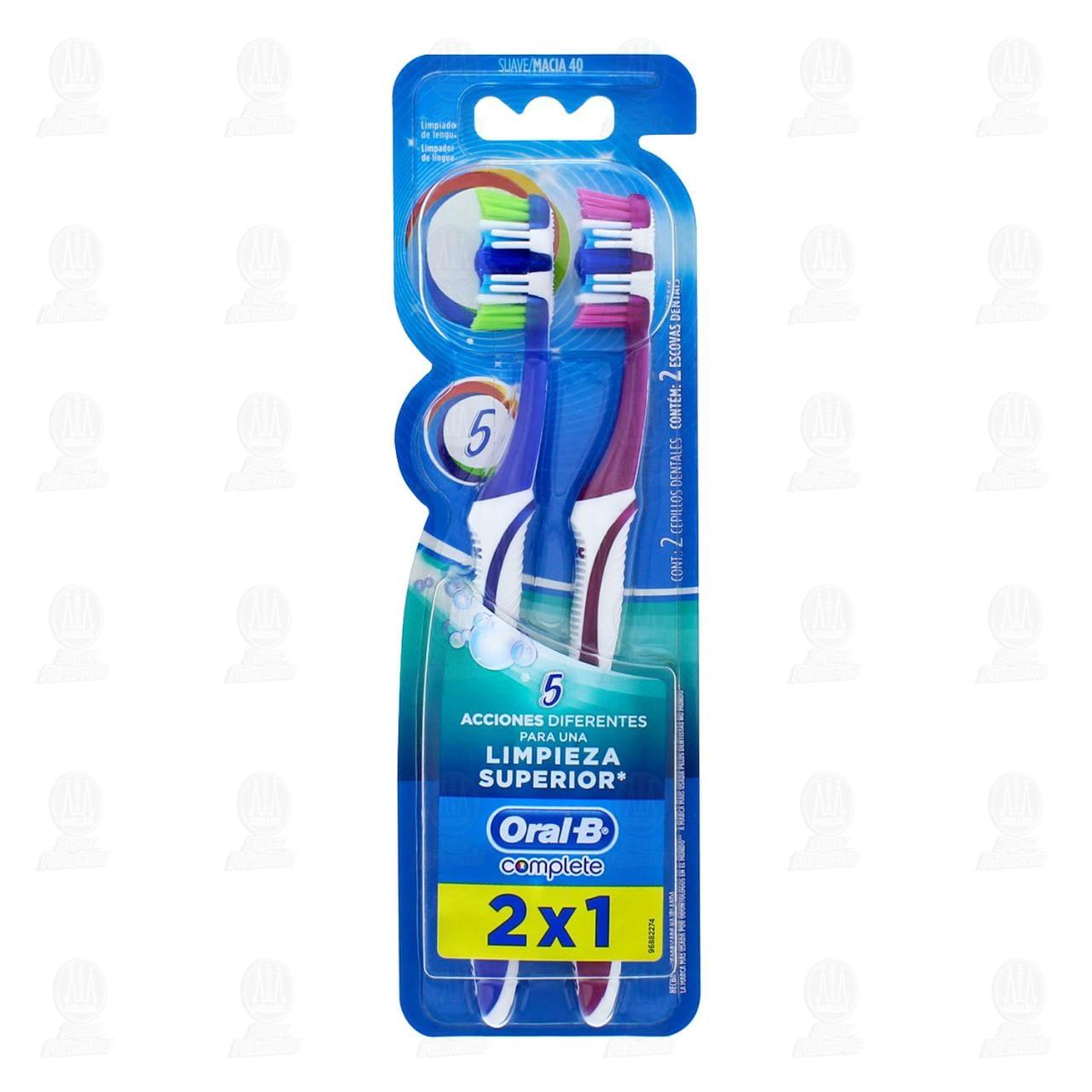 Cepillo Dental Oral-B Complete 5 Acciones de Limpieza 2 Unidades