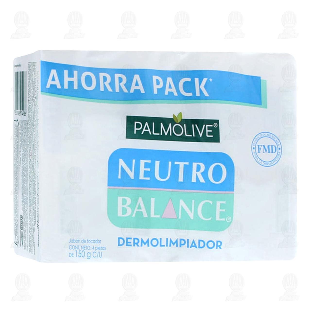 Jabón en Barra Palmolive Neutro Balance dermo Limpiador, 4 pzas. 150 gr.