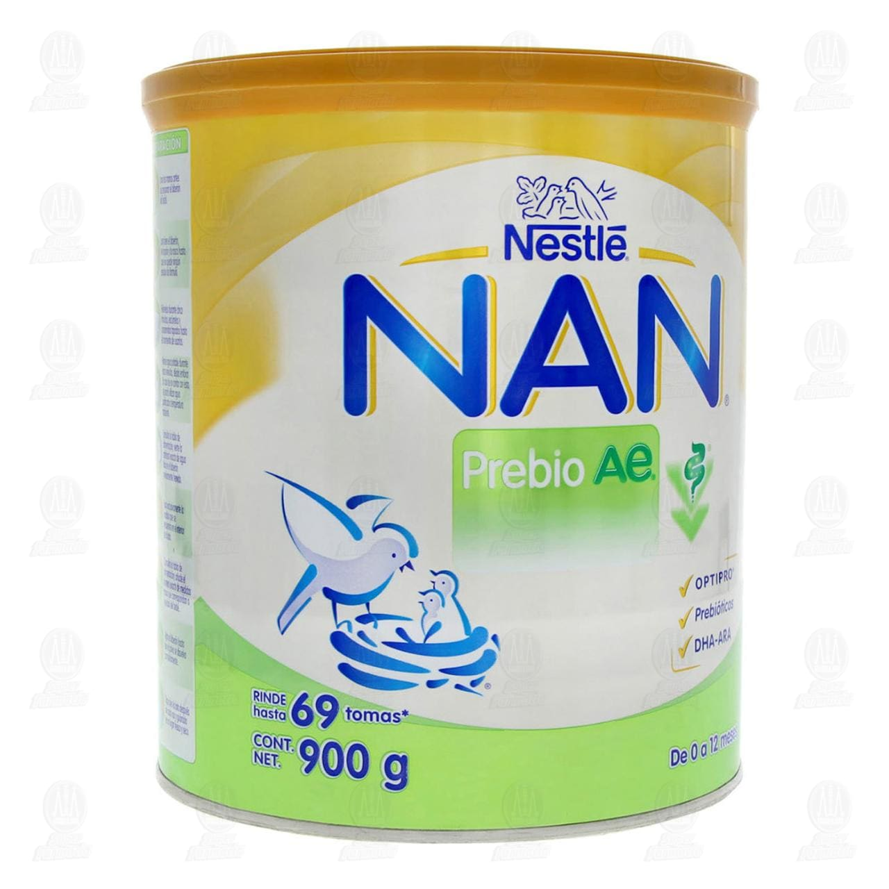 Fórmula Infantil Nestlé Nan Prebio Ae en Polvo (Edad 0-12 Meses), 900 gr.