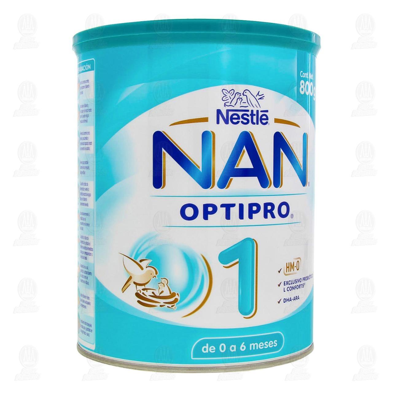 Fórmula Infantil Nestlé Nan Optipro 1 en Polvo (Edad 0-6 Meses), 800 gr.