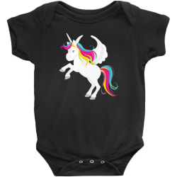 Flying Unicorn Bodysuits (Black / NB) large, primary, image