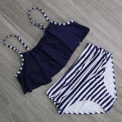 2017 Bikinis Women Swimwear High Waist Swimsuit Halter Sexy Bikini Set Retro Bathing Suits Plus Size large, primary, image