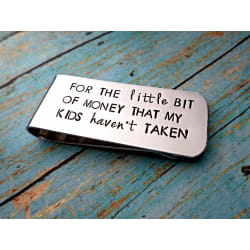 Father's Money Clip, Custom Money Clip, Funny Dad Gift #1 Dad, Fathers Day Gift, Gift for Dad large, primary, image
