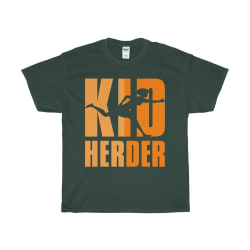 Kid Herder Unisex Heavy Cotton Tee (Forest Green / S) large, primary, image