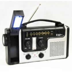 Emergency Radio, Flashlight, and Charger (Solar/Hand Crank)  AM/FM/NOAA large, primary, image