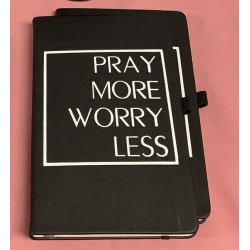 Pray More Worry Less Journal large, primary, image