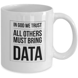 Logoz USA - In GOD we Trust All Others Bring Data - Coffee Mug large, primary, image