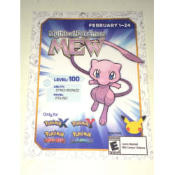 Pokemon 20th Anniversary Mew Card prize large, primary, image