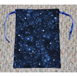 Star Covered Drawstring Dice Bag, Gift Pouch, Fully Lined large, primary, image