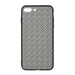 Stippled Scales in Monochrome iPhone 8 Plus Case (white base color / Universal) large, primary, image