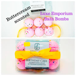 Time to Relax -  Birthday Cake Bath Bomb Set large, primary, image