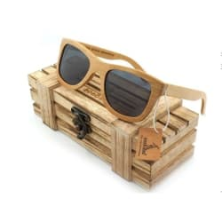 Bamboo Sunglasses With Beautiful Wooden Box large, primary, image