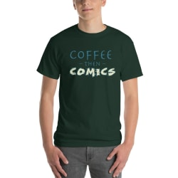 Coffee then Comics Short-Sleeve T-Shirt large, primary, image