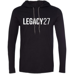 Legacy 27 Mens T-Shirt Hoodie (Black/Dark Grey / Small) large, primary, image
