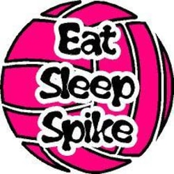 "Eat Sleep Spike Volleyball Decal. 4"" Round Decal. (3"") large, primary, image"