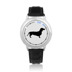 LED Dachshund Silhouette Print Wristwatch (LED Dachshund Silhouette Print Wristwatch - diameter - large, primary, image